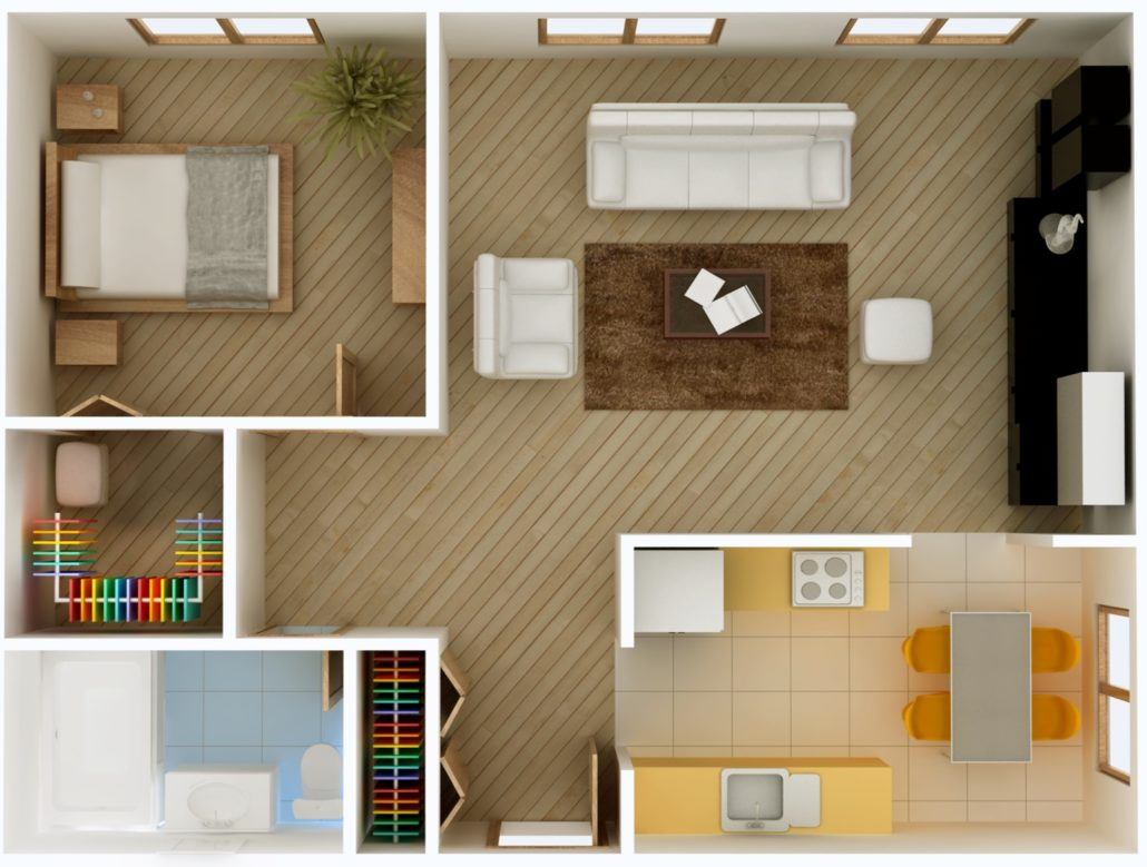HalleyAssist in the home - 3D floor plan