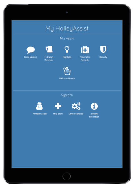 HalleyAssist app on tablet